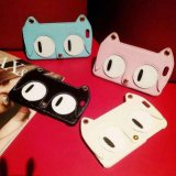 Cat bonito quente Leather Caso de Luxury Cartoon para iPhone6 com Chain
