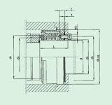 Selo mecânico do fole para Pumpe (HBM2)