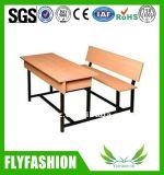 Muebles de escuela para el escritorio y la silla del doble del estudiante