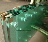 Tempered прогулка в двери ливня стеклянной с точным вырезом отверстия
