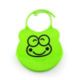 Babero durable impermeable suave al por mayor del bebé del silicón de la categoría alimenticia