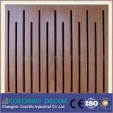 Painel de parede acústico da madeira de madeira Soundproof do sulco