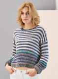 Damen Knitted Round Neck Long Sleeve Sweater mit Softer Handfeel (2017-118)