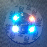 Il LED promozionale illumina in su il sottobicchiere con il marchio stampato (4040)