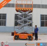 levage mobile à quatre roues de ciseaux de 12m
