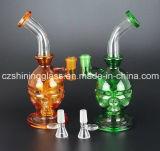 Glasschädel-Form-Wasser-Pfeife mit unterschiedlicher Farbe Czs382