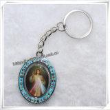 Douane Jesus Religious Metal Key Chain, Godsdienstige Foto (iO-Ck073)
