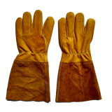 Золотистые перчатки заварки TIG кожи с сохранённым природным лицом коровы безопасности