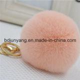 Trousseau de clés de Pompom de fourrure de lapin pour la décoration de garniture