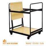 O MDF dobra-se abaixo da mesa para o estudante
