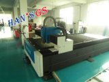folha de metal da máquina de estaca do laser da fibra do metal de folha do CNC 500W que processa a maquinaria