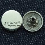 Imprimere gli schiocchi d'ottone dei tasti del metallo del rivestimento dei jeans