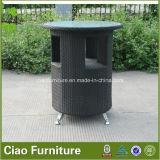卸し売り庭の家具の柳細工のテラスの藤棒表および椅子