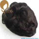 Léger Toupee ondulé de cheveux humains pour l'Européen avec la qualité Survice