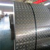 Piatto di alluminio dell'impronta delle 5 barre per anti sdrucciolevole usato