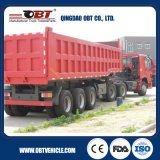 Obt Brand 3-Axles Hydraulic Rear Tipper Semi Trailer