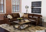 Modernes Leather Sectional Sofa mit L Shape Sofa Furniture