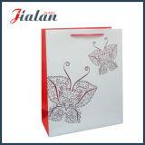 Bolsa de papel de encargo impresa mariposa profesional de sellado caliente del oro colorido