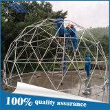 шатер геодезический купола цвета желтого цвета диаметра 8m