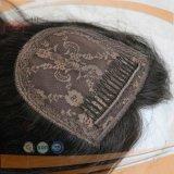 유럽 Remy Virgin 머리 피부 최고 가득 차있는 손에 의하여 묶이는 레이스 마감 Toupee
