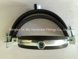 33 milímetros - abrazaderas de tubo de goma galvanizadas diámetro de 36 milímetros FCC/SGS de la talla de 1 pulgada