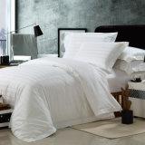 Jogo do fundamento do algodão do hotel da verificação do cetim com o Comforter ajustado (WS-2016064)