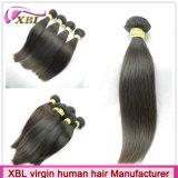 Produit droit de cheveux humains de Vierge de couleur noire normale