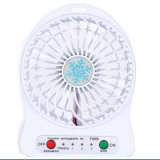 Ventilatore ricaricabile multifunzionale portatile all'ingrosso di estate mini LED