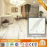 Telha de pedra de mármore branca super da porcelana do revestimento de Carrara (JM88067D)