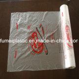 ロールカスタムロゴによって印刷されるプラスチックフリーザー袋ごとの100PCS