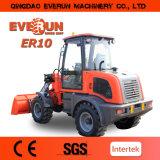 Everun 1 Tonnen-Rad-Ladevorrichtung mit schneller Anhängevorrichtung des Motor-EPA4/elektrischem Steuerknüppel