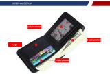Бумажник зажима деньг бумажника кожи бумажника окна кредитной карточки