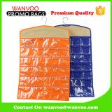 Organizador colgante modificado para requisitos particulares del collar de la joyería con los bolsillos de la cremallera del PVC