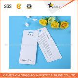 Tag branco Eco-Friendly do cair da etiqueta dos acessórios do vestuário do cartão