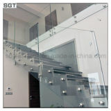 Stair Railing를 위한 낮은 Iron 또는 Super White Tempered Glass