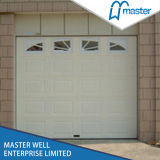 China Style Sectional Garage Door mit Window/White Color Steel Door