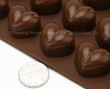 molde Sc42 del hielo del silicón del corazón del molde del chocolate del silicón 15-Cavity