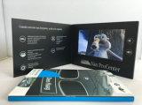 LCDのパンフレットのグリーティングビジネスカスタム4c印刷のビデオカード