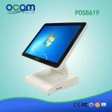 """(POS8619D) """" indicador duplo todo do LCD do monitor da tela de toque da tela 15 em um terminal da posição do PC"""