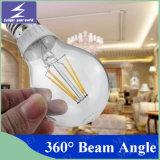Lámpara de filamento del bulbo LED de la vela de A60/A19 2700k 3000k 4000k 6500k Edison