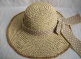 Шлем сторновки шарфа больших многоточий бумаги Brim Crocheted Linen