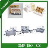 Cadena de producción de empaquetado oral automática de los líquidos (encuadernación de la fabricación/etiquetado/el introducir de la bandeja)