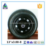 Qingdao Pneumatic 3.00-8 Rubber Tire para Trolley Wheelbarrow Wheel