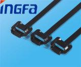 Courroie de câble d'acier inoxydable d'Individu-Blocage avec le PVC enduit