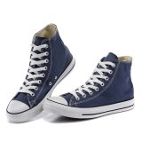 Самый удобный обыкновенный толком белый резиновый единственный ботинок холстины королевской сини
