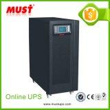 10kVA UPS em linha zero em linha da fase monofásica do tempo do UPS Transfters