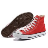 De nieuwe Model Vlakke Zuivere Schoenen van het Canvas van de Rode Kleur Rode