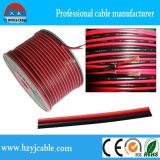 1.5mm2透過スピーカーケーブル、赤くおよび黒い平行電線