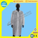 使い捨て可能なポリプロピレンの白い実験室のコート、SBPPのユニフォーム