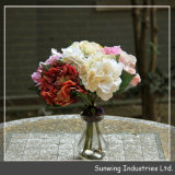Festival Decoration를 위한 높은 Quality White Artificial Silk Flower
